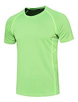 Homens Mulheres Camiseta de Corrida Manga Curta Secagem Rápida Respirável Corrida Redutor de Suor Pulôver Blusas para Correr Exercício e