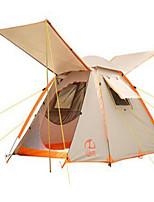 3 a 4 Personas Tienda Doble Carpa para camping Tienda de Campaña Automática Resistente a los UV Resistente a la lluvia para Camping y