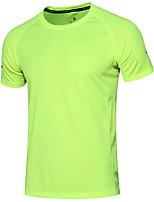 Hombre Camiseta de running Manga Corta Dispersor de humedad Secado rápido Transpirable Sudadera Top para Jogging Ejercicio y Fitness