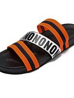 Men's Sandals Comfort PU Summer Casual Comfort Flat Heel Ruby Yellow White Flat