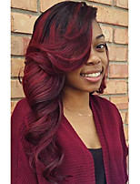 New Style T1B/99j Wave Lace Front Human Hair Wigs with Baby Hair Brazilian Virgin Human Hair for Black Women Natural Hairline Shipping Free
