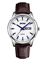 Skmei® Men's Dress PU Leather Strap Quartz Wrist Watch 30m Waterproof Assorted Colors