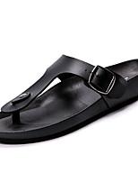 Men's Sandals Comfort Rubber Summer Outdoor Comfort Flat Heel Black White Under 1in