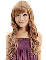 Capless Wig Water Wave Synthetic Fiber Heat Blonde Brown Color Wig