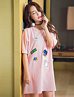 Women's Chemises & Gowns Teddy Nightwear,Print Print-Thin