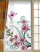 Window Film Window Decals Style Pink Flowers Dull Polish PVC Window Film - (60 x 116)cm