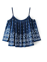 Women's Going out Casual/Daily Street chic Summer Tank Top,Print Strap Sleeveless Cotton Medium