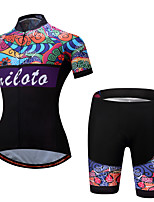 Cycling Jersey with Shorts Ladies' Female Short Sleeve Bike Clothing Suits Cycling Spandex Polyester Spring/Fall Summer Cycling/Bike