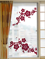 Window Film Window Decals Style Plum Grind Arenaceous PVC Window Film- (60 x 116)cm