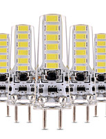 4W Luces LED de Doble Pin T 12 SMD 5730 300-400 lm Blanco Cálido Blanco Fresco Regulable Decorativa AC 12 V 5 piezas
