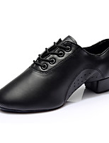 Men's Latin Leatherette Heels Training Customized Heel Black 1