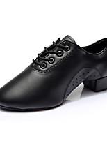 Для мужчин Латина Дерматин На каблуках Учебный Каблуки на заказ Черный 2,5 - 4,5 см Персонализируемая