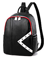 IMBETTUY Women's Fashion Rivets Splicing PU Leather Backpack