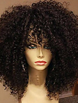 180% Density Brazilian Hair Lace Wigs Kinky Curly Lace Front Human Virgin Hair Wigs Short Remy Hair Wig for Black Woman