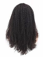 Non-remy kinky perruque profonde perruque avant perruque cheveux brésiliens naturels couleur naturelle 14-18''120 denisty pour les femmes