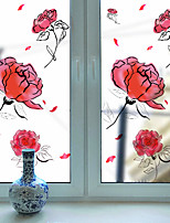 Window Film Window Decals Style Rose Grind Arenaceous PVC Window Film- (60 x 116)cm