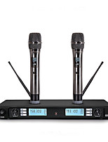 Wireless Microphone Karaoke System With Dual Handheld Transmitter Microfone Mic