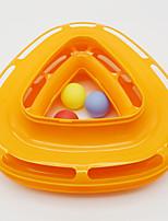 Игрушка для котов Игрушки для животных Интерактивный Игровой круг с шариками Силикон