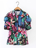 Women's Casual Simple ShirtSolid Round Neck Short Sleeve Cotton