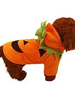 Dog Costume Dog Clothes Halloween Christmas Pumpkin Orange
