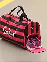 Unisex Travel Bag PU All Seasons Casual Sports Outdoor Weekend Bag Zipper Blushing Pink Black