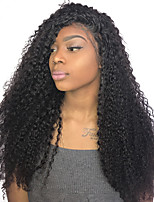 Popular Kinky Curly Lace Front Human Hair Wigs For Black Women Pre Plucked Natural Hairline With Baby Hair
