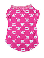 Dog Shirt / T-Shirt Dog Clothes Casual/Daily Skulls Blushing Pink