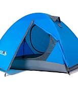 2 persone Tenda Doppio Tenda ripiegabile Una camera Tenda da campeggio 2000-3000 mm Terital Fibre di vetroOmpermeabile Anti-pioggia