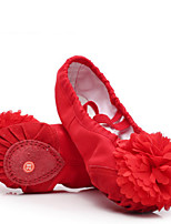 Mujer Ballet Tela Planos Actuación Tacón Plano Blanco Negro Rojo Rosa Almendra Menos de 2'5cms