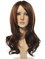 Long Dark Brown Body Wave Natural Wigs for Women Costume Cosplay Synthetic Wigs