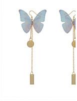 Жен. Серьги-слезки Искусственный жемчугБазовый дизайн Уникальный дизайн В виде подвески Животный дизайн Дружба Elegant Панк Регулируется