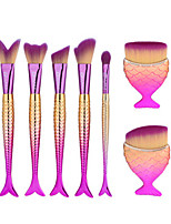 7pcs Makeup Brush Set Synthetic Hair