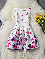 Girl's Floral Dress,Cotton Polyester Summer Sleeveless