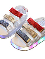 Kids girls' Boys' Sandals Light Up Shoes Mary Jane Comfort Leatherette Summer Fall Casual Outdoor Walking Light Up Shoes Mary Jane Comfort Magic Tape