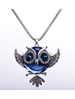 Women's Pendant Necklaces Owl Rhinestones Alloy Animal Design Jewelry For Wedding Party Special Occasion Anniversary Birthday