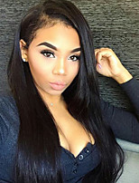 Silk Straight 360 Lace Wig 180% Density 360 Lace Frontal Wigs Peruvian Remy Hair Pre Plucked Natural Hairline With Baby Hair