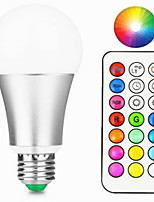 12W LED Smart Bulbs A60(A19) 15 Integrate LED 800-900 lm Warm White RGB Remote-Controlled Decorative Dimmable AC85-265 V 1 pcs