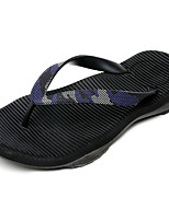 Men's Slippers & Flip-Flops Comfort Rubber Summer Outdoor Flat Heel Black Gray Under 1in