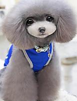 Собака Жилет Одежда для собак На каждый день Сплошной цвет Серый Красный Синий