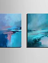 Peint à la main Abstrait Format Vertical,Moderne Deux Panneaux Toile Peinture à l'huile Hang-peint For Décoration d'intérieur