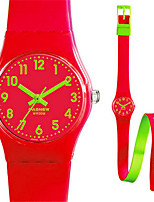 Kid's Sport Watch Quartz Water Resistant / Water Proof Rubber Band Black Red Rose
