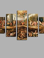 Large HD Printed Jesus 5 Panel Wall Canvas Painting Posters Pictures Home Decor For Living Room Decora Unframed