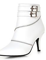 Для женщин Ботинки Удобная обувь Дерматин Осень Зима Повседневные Для вечеринки / ужина Для праздника Удобная обувь Молнии На шпильке