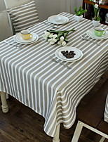 Mediterranean Splicing Modern Simple Stripes Cotton And Linen Table Cloth 140*140cm