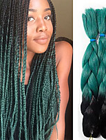 Jumbo La Havane boîtes Tresses Crochet Ombre Braiding Hair Kanekalon Gris noir Noir rouge Noir / Bleu Noir / Violet Noir / VertExtensions