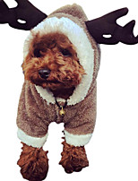 Dog Costume Dog Clothes Keep Warm Solid Coffee Black White