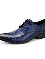Men's Wedding Shoes Formal Shoes Cowhide Leather Spring Fall Wedding Office & Career Party & Evening Formal Shoes Burgundy Blue Black