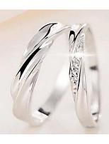 Women's Men's Couple Rings Jewelry Basic Circle Vermeil Metal Alloy Round Jewelry For Birthday Dailywear Valentine