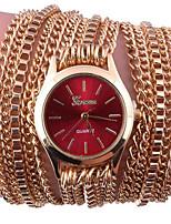 Жен. Часы-браслет Цифровой Металл Группа Черный Белый Серебристый металл Красный Золотистый Розовый