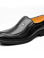 Для мужчин Туфли на шнуровке Формальная обувь Кожа Весна Осень Формальная обувь Черный Менее 2,5 см